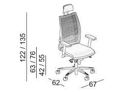 dimensions overtime mesh executive chair