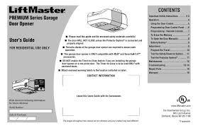 chamberlain premium series user manual