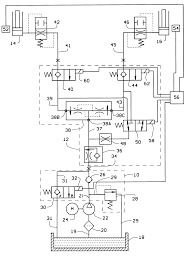 patent us6189432 automotive lift hydraulic fluid control circuit patent drawing