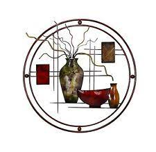 metal wall art vase living room home d cor abstract red burgandy brown on red and brown metal wall art with 157 best furnace vent covers wall images on pinterest metal walls