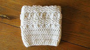 Crochet Boot Cuffs Pattern Free
