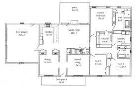 bathroom amusing 4 bedroom ranch house plans 19 good looking rancher 22 raised floor plan of