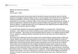 effects of smoking on society international baccalaureate document image preview