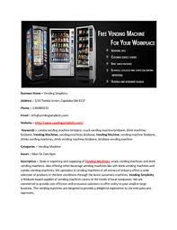 Vending Machine Website Gorgeous Vending Machines Brisbane Vending Simplicity AuthorSTREAM