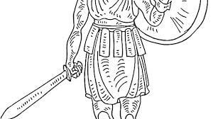 Roman Coloring Pages Soldiers Coloring Pages Roman Soldier Coloring