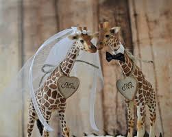 safari theme wedding. Giraffe Wedding Cake Topper Jungle Safari Zoo Circus Themed Wedding