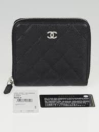 chanel zip wallet. chanel black caviar quilted leather s-small zip wallet