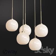 sculptural glass globe 3 light chandelier