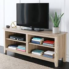 tv stand with storage. Modren With WE Furniture 58u0026quot Wood TV Stand Storage Console Natural On Tv With E