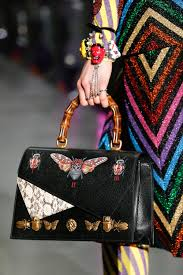 gucci bags fall 2017. gucci black butterfly embellished and printed bamboo top handle bag 2 - fall 2017 bags u