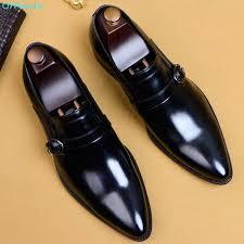 <b>QYFCIOUFU</b> 2019 <b>Men</b> Dress Shoes Genuine Leather Black Italian ...