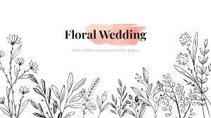 Flower Powerpoint Floral Wedding Free Presentation Template For Google
