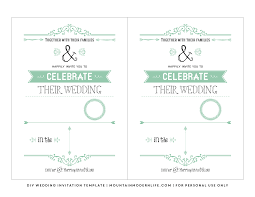 Free Invitation Template Download Free Wedding Invitation Template Mountainmodernlife Com