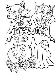 Small Picture Halloween Coloring Pages Kids Printable Free Cat Coloring Pages