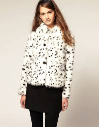 widgeon inset stripe dalmatian print coat toddler girls dalmation faux fur