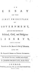 an essay on the first principles of government and on the nature 0893 tp
