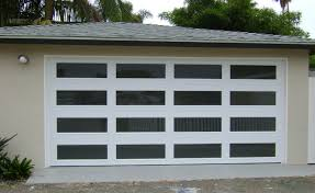 custom modern glass garage doors