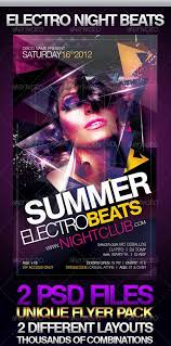 club flyer templates top 10 best electro house club psd flyer templates