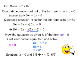 8 quadratic equation but not of the form ax2 bx c