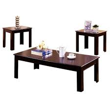 furniture of america town square espresso 3 piece end side table set