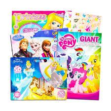 Disney Mlp Coloring Book Super Set For Girls 4 Giant Coloring