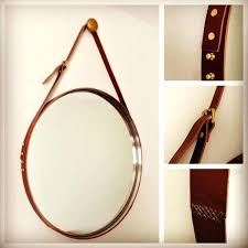 round mirror with strap how leather straps can be used in creative home projects strap mirror round mirror with strap strap mirror black leather