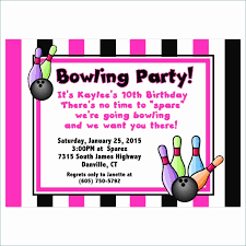 Bowling Party Invitation Template Free New Awesome Bowling