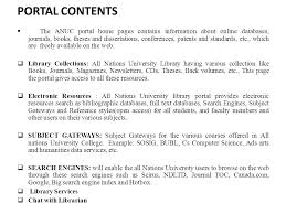 designing a library portal for all nations university college a  23 portal