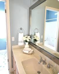 framing existing bathroom mirrors