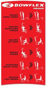 Bowflex Pr3000 Workout Chart Bowflex Pr1000 Workouts Boflex Workouts Gym Workouts