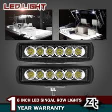 Dock Lights Marine Details About Spreader Led Light Marine T Top Dock Lights Spot Beam Black Set Of 2 6000k 18w