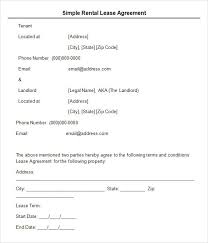 Simple Rental Lease Agreement Free 7 Useful Sample Leasing Agreement Templates In Pdf