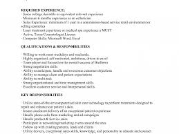 New Esthetician Resumes Best Resume Example Cosmetology Sample