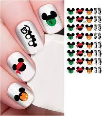 Disney Mickey Mouse & Minnie Mouse Halloween Scary Boo Costume Head Nail Art  Water Slide Rub Nail Design # H7 : Amazon.de: Beauty