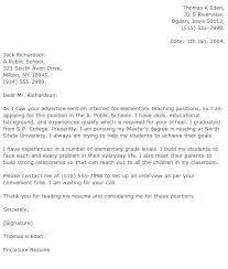 Teacher Cover Letter With Experience Cover Letter For Teaching Job