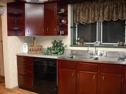 image of restaining kitchen cabinets darker