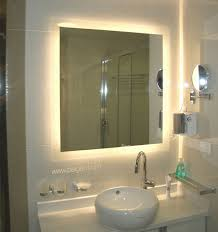Bagen Yellow Bathroom Mirror Led Lights Back Light Behind Glass Decorations  Sink Ceramics Wall Cabinet Glass