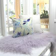 eluxury home mongolian sheepskin lilac purple hide pelt throw rug fur