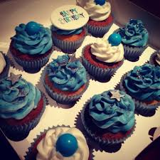 Blue And White Cupcakes Eat My Cakes