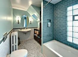 subway tile small bathroom blue with built in bathtub and under mount designs white remodel subw