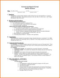 Formal Lab Report Example Writing Physics At High School Template Ap