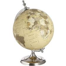 world globe on stand. 5 Of 7 Vintage Style Chrome Silver World Globe On Stand