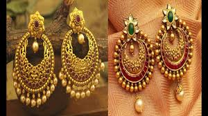 Chandbali Design Latest Gold Chandbali Earrings Designs With Weight Jewellery Gold Earrings Designs Gold Studs