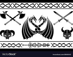 Viking Patterns New Set Of Fantasy Viking Signs And Patterns Vector Image