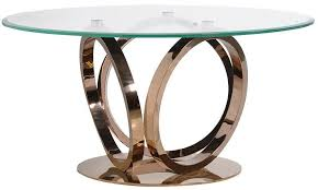 glass round dining table incredible rose gold and cfs uk regarding 15
