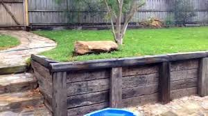 Small Picture Final Railway Sleeper Retaining Wall Update YouTube