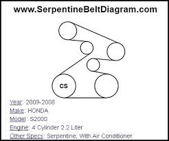 similiar 2004 honda accord v6 serpentine belt diagram keywords 2009 2008 honda s2000 serpentine belt diagram for 4 cylinder 2 2 liter