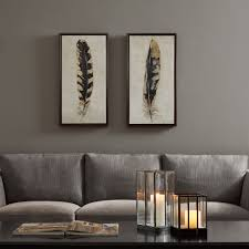 urban habitat gilded feathers yellow printed canvas with gold foil 2 piece set overstock ping the best deals on framed prints