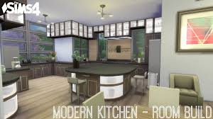 Sims Kitchen The Sims 4 Modern Kitchen Room Build Youtube