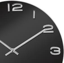 karlsson vintage round glass clock